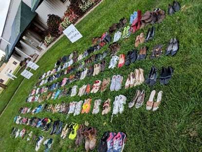 Stomp the Stigma Shoe Display
